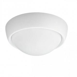 Badezimmerleuchte Deckenleuchte Weiss IP44 Ø 28, 7cm Glas LED Tauglich