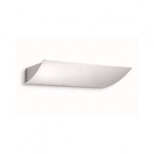 Wandleuchte Wandlampe Energiespar Weiss Metall 30x30x4, 9cm