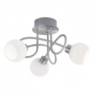 LED Deckenleuchte Stahl 3 Flammig Fernbedienung Farbwechsel Dimmbar 705lm