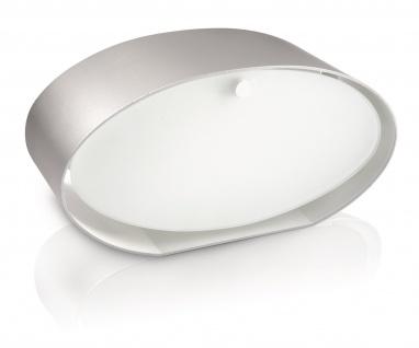 Philips myLiving Tischleuchte Energiespar Tischlampe Douro Silber matt
