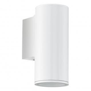 LED Wandaussenleuchte Außenleuchte Weiß IP44 GU10 1 Flammig