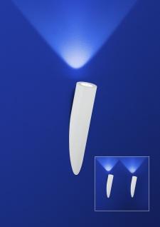 Deutsche LED Wandleuchte Weiss Fackel 5 Watt Dimmbar