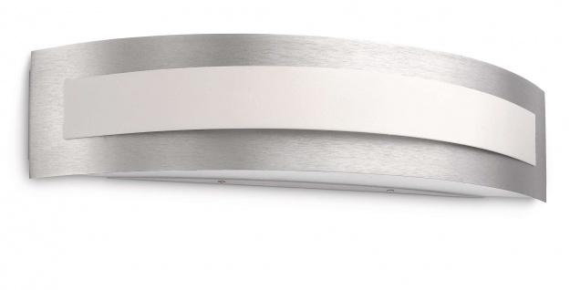 Energiespar Wandleuchte Aluminium gebürstet mit Leuchtmittel 1x E27 bis 23W 40cm