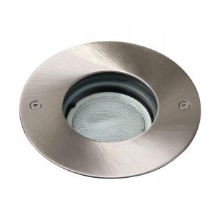 Bodeneinbauleuchte Edelstahl IP67 Durchmesser 10, 5cm inkl Energiesparleuchmittel