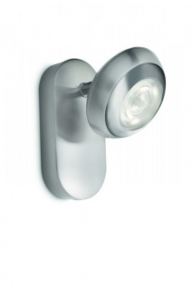 PHILIPS LED-WANDSPOT, 1 X 4 W, SILBER