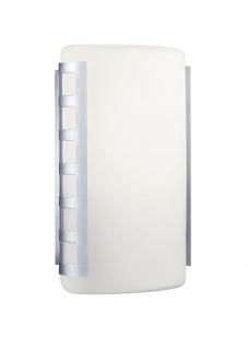 Deutsche Wandaußenleuchte Edelstahl Opalglas 1 x E27 max. 75W/230V