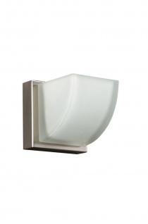 Wandleuchte Halogen Wandlampe Glas Eckig Silber