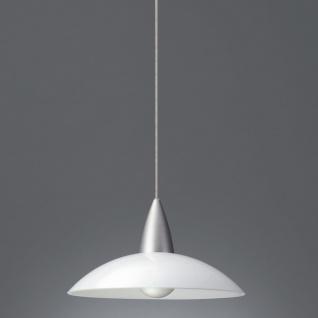 Energiespar Pendelleuchte Glas Aluminium gebürstet Durchmesser 35cm