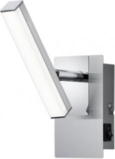 LED Deckenleuchte Nickel Matt Wandleuchte Spot Schwenkbar Verstellbar Schalter