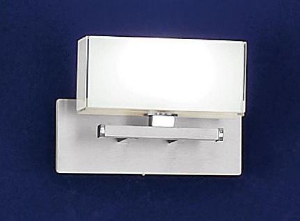 Bankamp Wandleuchte Cube Halogen Opalglas Nickel Matt Chrom Schalter 33W