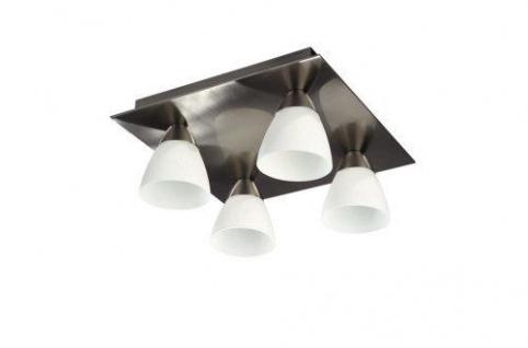 Badezimmerleuchte Deckenleuchte Glas Stahl Halogen G9 LxBxH 260x260x120mm