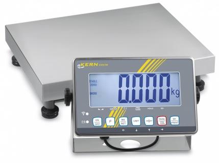 Kern IXS 300kg Edelstahl Plattformwaage IP68 Auswertegerät, XL-Display und Eichzulassung [M]