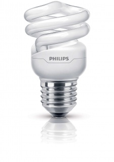 Philips Energiesparleuchtmittel E27 Spiralförmig Energiesparlampe Leuchtmittel 8W Tornado