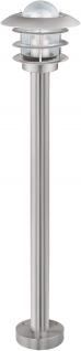 Eglo Wegeleuchte IP44 Edelstahl Glas Höhe 95cm Außenleuchte IP44
