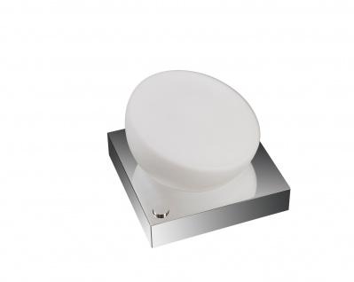 Energiespar Tischleuchte Tischlampe Glas Chrom inkl. Leuchtmittel