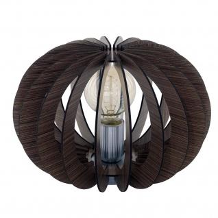 Tischleuchte Holz Dunkelbraun Schalter Tischlampe LED tauglich Ø 30cm