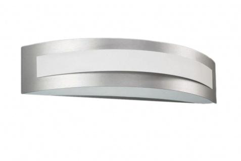 Energiespar Wandleuchte Aluminium gebürstet mit Leuchtmittel 1x E27 bis 23W 40cm - Vorschau 3
