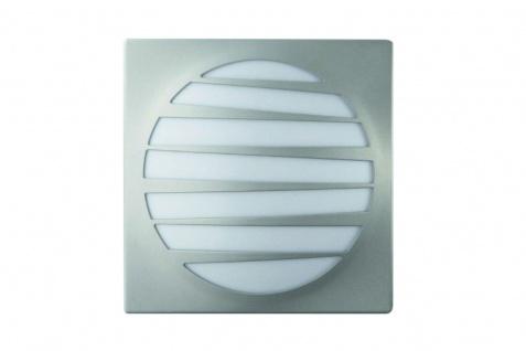 Massive Wandaussenleuchte Altea Energiespar Gestreift Silber Grau EEK A E27 23W