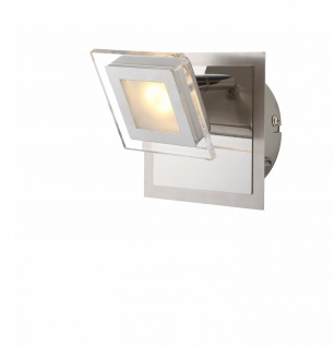 LED Wandleuchte Strahler Spot Cholet Nickel Matt 1flg. Schwenkbar 3000K 1800lm