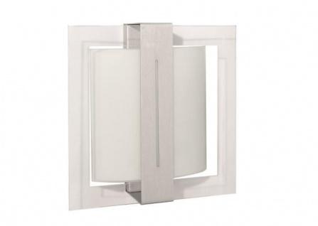 Wandleuchte Deckenleuchte Aluminium Silber Glas 1 Flg. 26 x 26cm