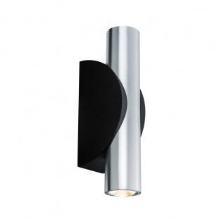 Wandleuchte Außenleuchte IP44 LED Aluminium Schwarz Up & Down 2 Flammig