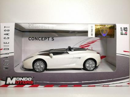 1:43 Lamborghini Concept S weiss - Mondo Motors