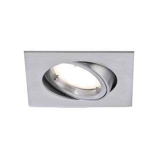 Eckige LED Einbauleuchte Alu gebürstet 4 - Stufen Dimmbar 350lm IP20 Schwenkbar