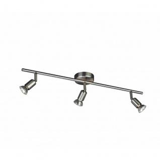Halogen Deckenleuchte Basic Spotleiste Deckenlampe Strahler Spot Silber 54013-17-10