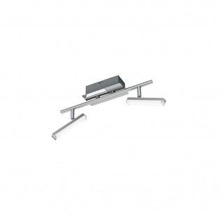 Deckenleuchte 2xLED je 4, 5W/230V Nickel Matt Metall Schwenkbar 20x36cm