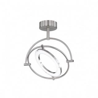 Wofi LED Deckenleuchte Monza 1 flammig Schwenkbar Deckenlampe Nickel Matt
