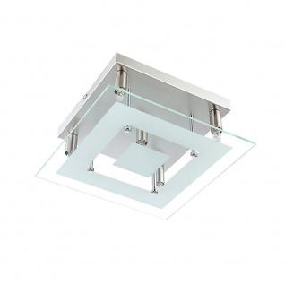 Wofi Deckenleuchte Lyon 5 flammig Halogen Deckenlampe Glas Silber Modern