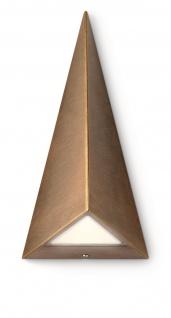 Philips LED Wandaußenleuchte Hills Pyramidenform Aussenleuchte Bronze