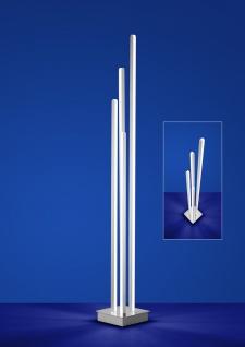 Deutsche LED Stehleuchte Nickel Matt Chrom mit Fußtrittdimmer 3600 Lumen Memory