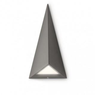 Philips LED Wandaußenleuchte Dunkelgrau Anthrazit Pyramidenform 2x2, 5W IP44