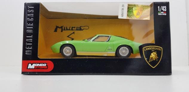1:43 Lamborghini Miura Grün - Mondo Motors Modellauto