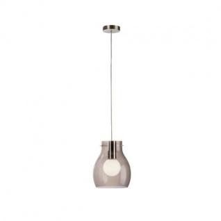 Philips Energiespar Pendelleuchte Glas Silber Ø 24cm inkl. Leuchtmittel