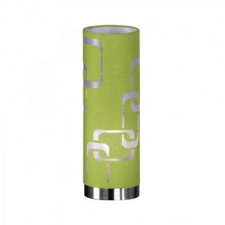 Tischleuchte Seventies Grün Dekor Tischlampe Apfelgrün Stoffschirm