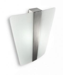 Philips Ecomoods Wandleuchte 2 Flg. Glas Aluminium gebürstet Eckig