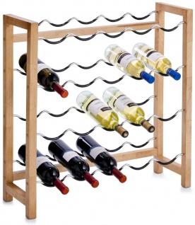 Zeller Weinregal SYRAH 20 Flaschen Wein Rack Holz Metall 71x70x23cm