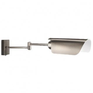 Bürowandleuchte Gelenkarm Wandleuchte Silber Energiespar 14 Watt