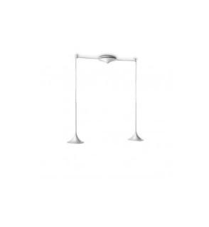 Philips PowerLED Pendelleuchte Höhenverstellbar warmweiß Aluminium Tulpenform