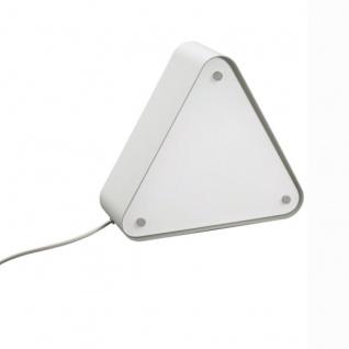 Massive Tischlampe Callagan 1x E27 23W EEK A mit Schalter Retro Glas Dreieck