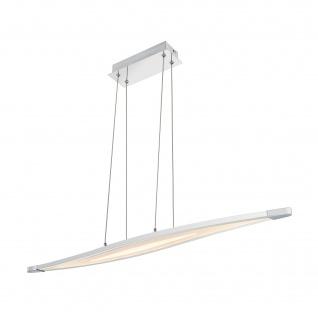 Wofi LED Pendelleuchte Trois Dimmbar Hängeleuchte Silber Design Leuchte Chrom