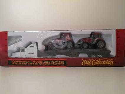 Ertl Kenworth T600B Truck & Trailer mit Traktoren 1:87 HO Zug