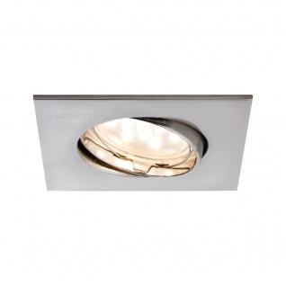 LED Einbauleuchte Eckig 6, 8W Schwenkbar IP23 Badleuchte Silber Warmweiß 430lm