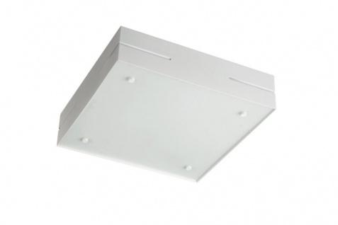 Quadratische Energiesparleuchte Deckenleuchte Weiß 2 Flammig 35x35cm