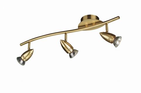 Deckenstrahler Spotleiste Gold Spot Strahler 3-flg. Schwenkbar 50cm