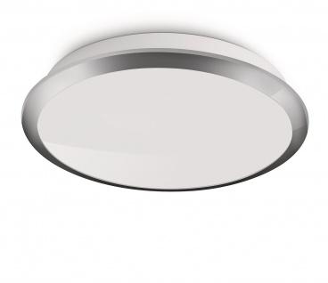 Philips LED Deckenleuchte Denim Modern Deckenlampe Weiß / Silber