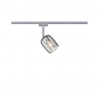 Paulmann URail Spot Blossom Rauchglas ohne Leuchtmittel Chrom matt G9 Glas
