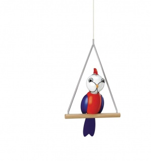 Kika Kinderzimmerleuchte Papagei Bunt Holz 1 Flammig Höhe 150cm